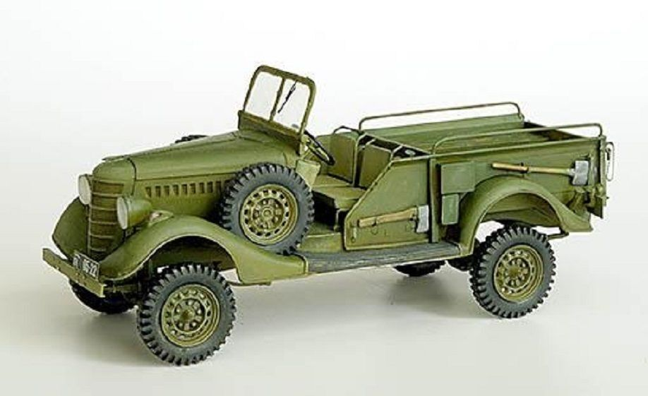 PLUS MODEL COMPLETE KIT GAZ 61-417 GUN TRACTOR WWII Scala 1 35 Cod.PL247
