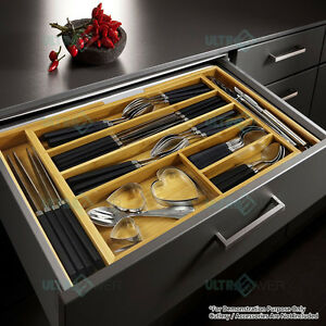 Expandable-Bamboo-Cutlery-Tray-Utensil-Drawer-Kitchen-Organizer-Insert-Divider