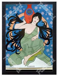 Historic-Aquarius-medicine-blood-circulation-Advertising-Postcard