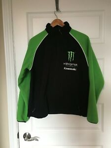 MONSTER-ENERGY-KAWASAKI-Racing-Motocross-Fleece-Coat-Jacket