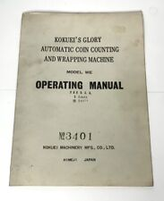 Glory Model We Automatic Coin Counting And Wrapping Machine Operators Manual