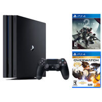 Sony PlayStation 4 Pro 1TB Gaming Console + Destiny 2 + Overwatch