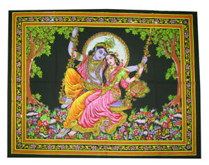 Image Is Loading Lord Radha Krishna Indian Wall Hanging Tapestry Cotton