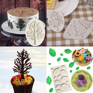 Durable-Home-Chocolate-Tree-Leaves-Shape-Cake-Decor-Mold-Silicone-Fondant-Mould