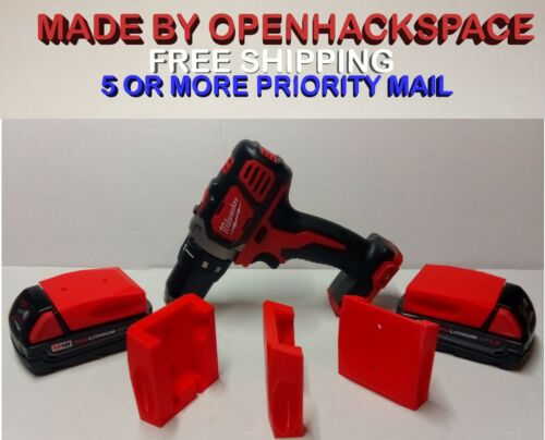 2 Pack Milwaukee 18v M18 Battery Mount  Bracket Dust Cover Made in USA