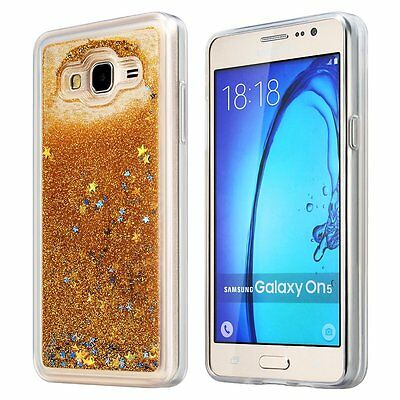 For Samsung Galaxy On5 G550 -HARD TPU RUBBER Floating Liquid Waterfall Case Skin