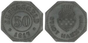 Hamm 50 Pfennig 1917 ss-vz 52654