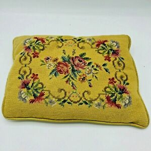 Vintage-Victorian-Style-Floral-Flower-Needlepoint-Pillow-15-x-11