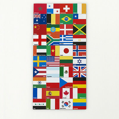 Design Ideas World National FLAG MAGNET set of 40 Piece Office 3205012