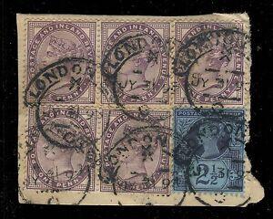 GB-QV-1893-LONDON-E-C-hooded-circle-D-S-Time-X-Code-C-on-5x1d-SG172-3-SG201