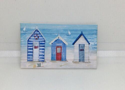 Accesorios hechos a mano miniatura Casa de Muñecas Estilo de LONA pared arte Foto Beach Hut