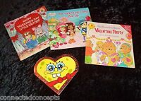 Kids Valentines Book Lot: Berenstain Bears, Strawberry Shortcake, Spongebob