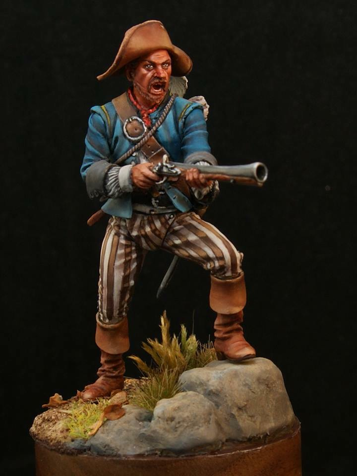 Tin soldier, Art, Pirate with blunderbuss, Privateers, Corsairs, Piracy, 54 mm