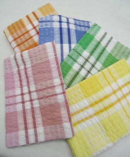 "Bleu Vert, Seersucker Nappe/"" 50 X 70/"" Oblong-couleurs disponibles-Rose"