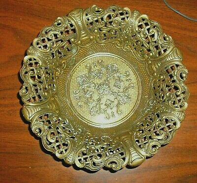 Old Italian Brass Pot Plant Trays …five available listed separately