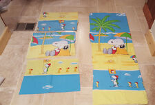 VINTAGE PEANUTS LOT 4 Twin Flat Sheet, Pillowcases, Pillow Sham SNOOPY WOODSTOCK