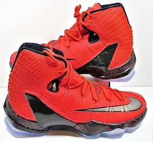 bc3bcde7911 Nike LeBron XIII 13 Elite University Red   Black   Crimson Sz 10 NEW ...
