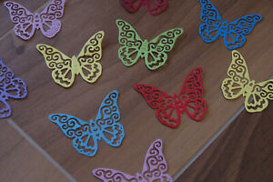 50St Schmetterlinge Scrapbooking Aufnäher für Hochzeitskarten deko