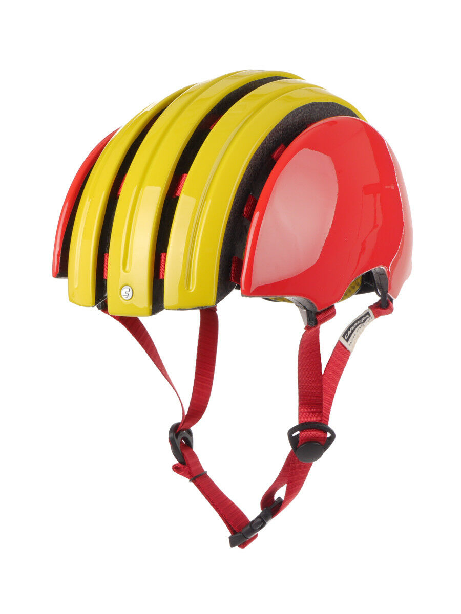 Carrera Casco Bicicleta de Seguridad Amarillo Plegable GTE Estirable España