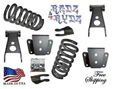 """1980-1996 Ford F100 F150 2WD 2-4"""" Lowering Kit Springs Shackles Hangers Shok Ext"""
