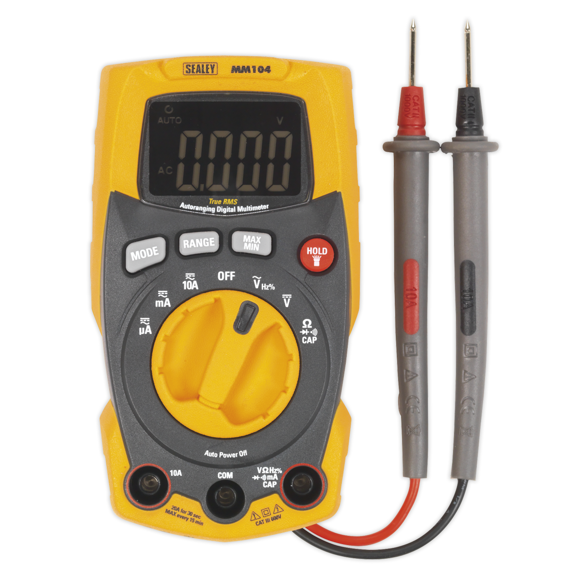 - Professional Auto-Ranging Digital Multimeter SEALEY MM104 by Sealey