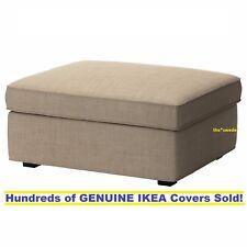 IKEA KIVIK One Seat Sofa Footstool Covers Tullinge Dark Brown Slipcover Set NEW