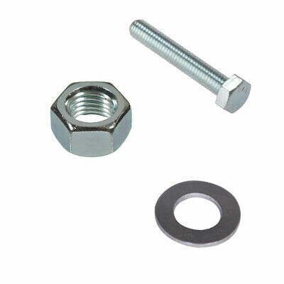 2019 Nieuwe Stijl M8 X 50mm Set Screws Full Thread Bolts With Nuts And Washers High Tensile Zinc P Om Een ​​Gevoel Op Gemak En Energiek Te Maken