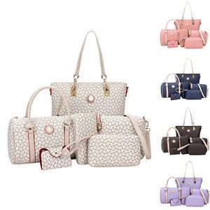 529f5136eedf Set of 6pc Womens Leather Handbag Shoulder Crossbody Hobo Bag Purse ...