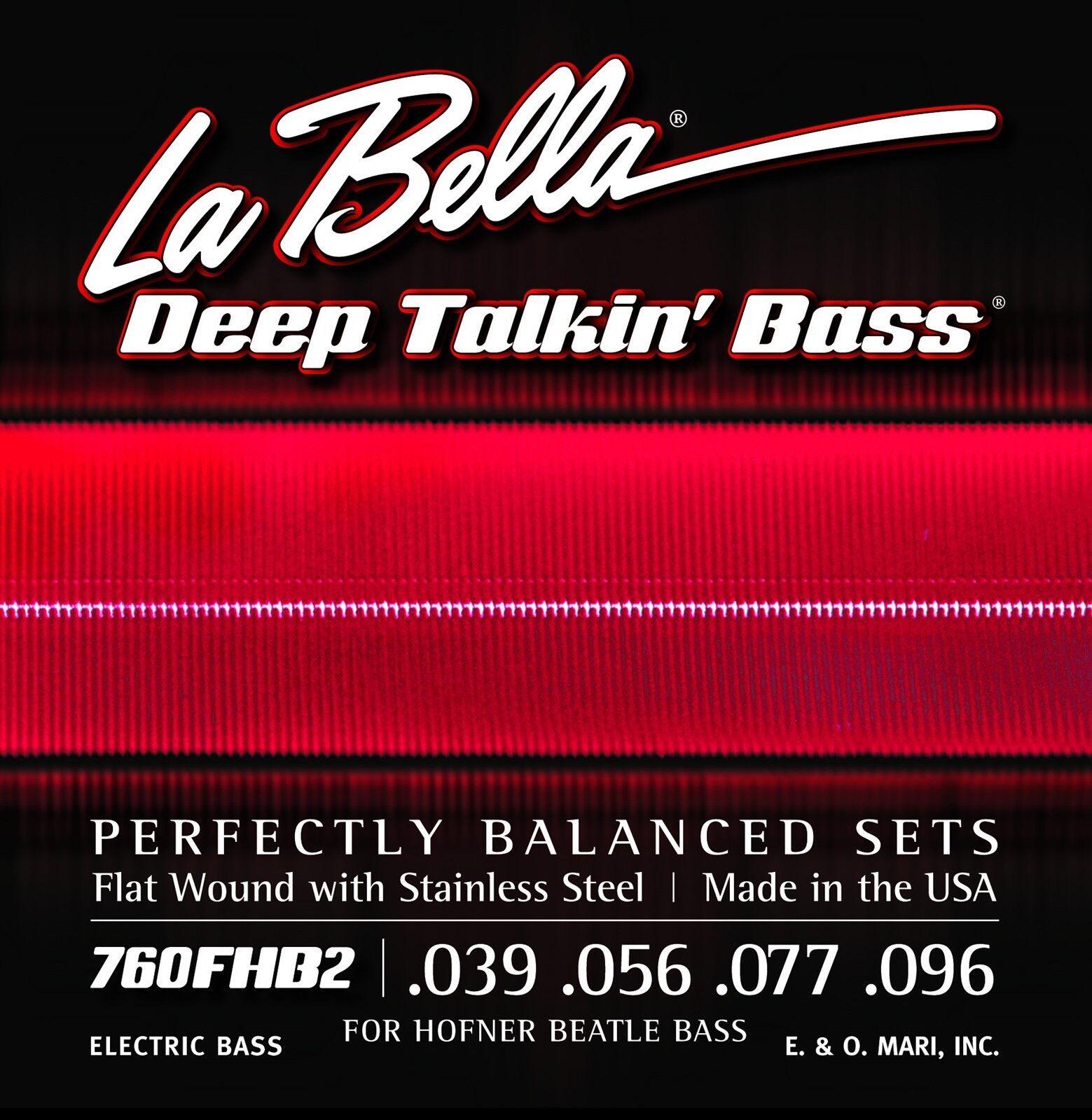 La Bella Bass Strings Deep Talkin' Bass Bass Bass Beatle Hoftner Bass Flat Wound Light  hasta un 60% de descuento