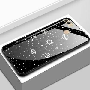 For-Huawei-Y9-2018-Luxury-Space-Tempered-Glass-Hybrid-Shockproof-Case-Back-Cover