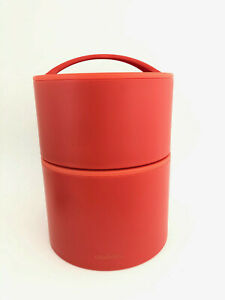 Aladdin Bento Lunch Box Stackable Insulated Bowls Two Piece Set Orange 12 & 20oz