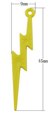 20 x 45mm Mixed Opaque Acrylic Key Pendants Jewellery Plastic Kids Keys G161