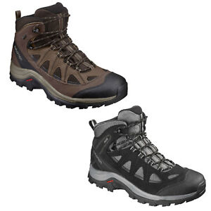 e45b4715efa Details about Salomon Authentic Leather Gore-Tex Men's Hiking Boots Outdoor  Hiking Shoes