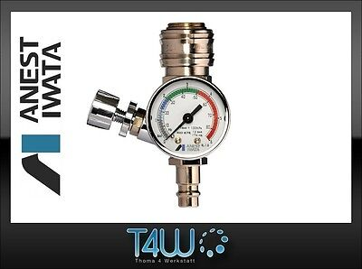 ANEST IWATA Air pressure gauge valve AFV-2 Supernova with quick couplings |  eBay