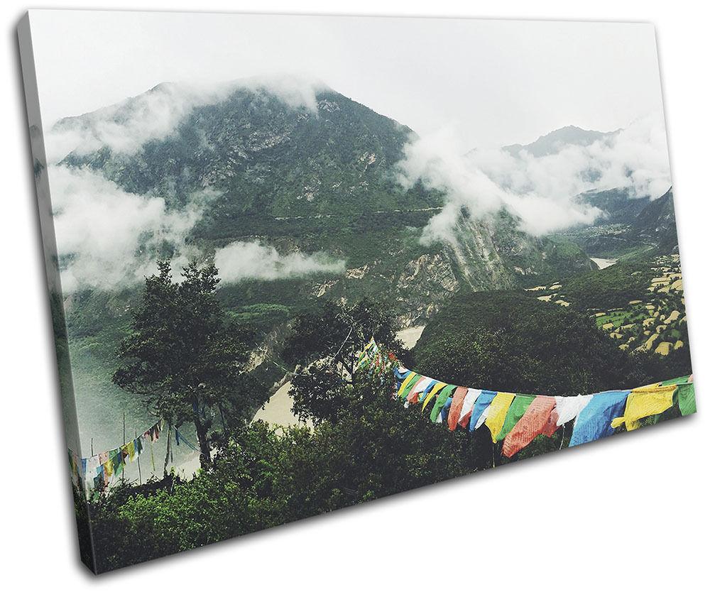 Mountains Nature Mist Landscapes SINGLE TELA TELA TELA parete arte foto stampa 85f1ec
