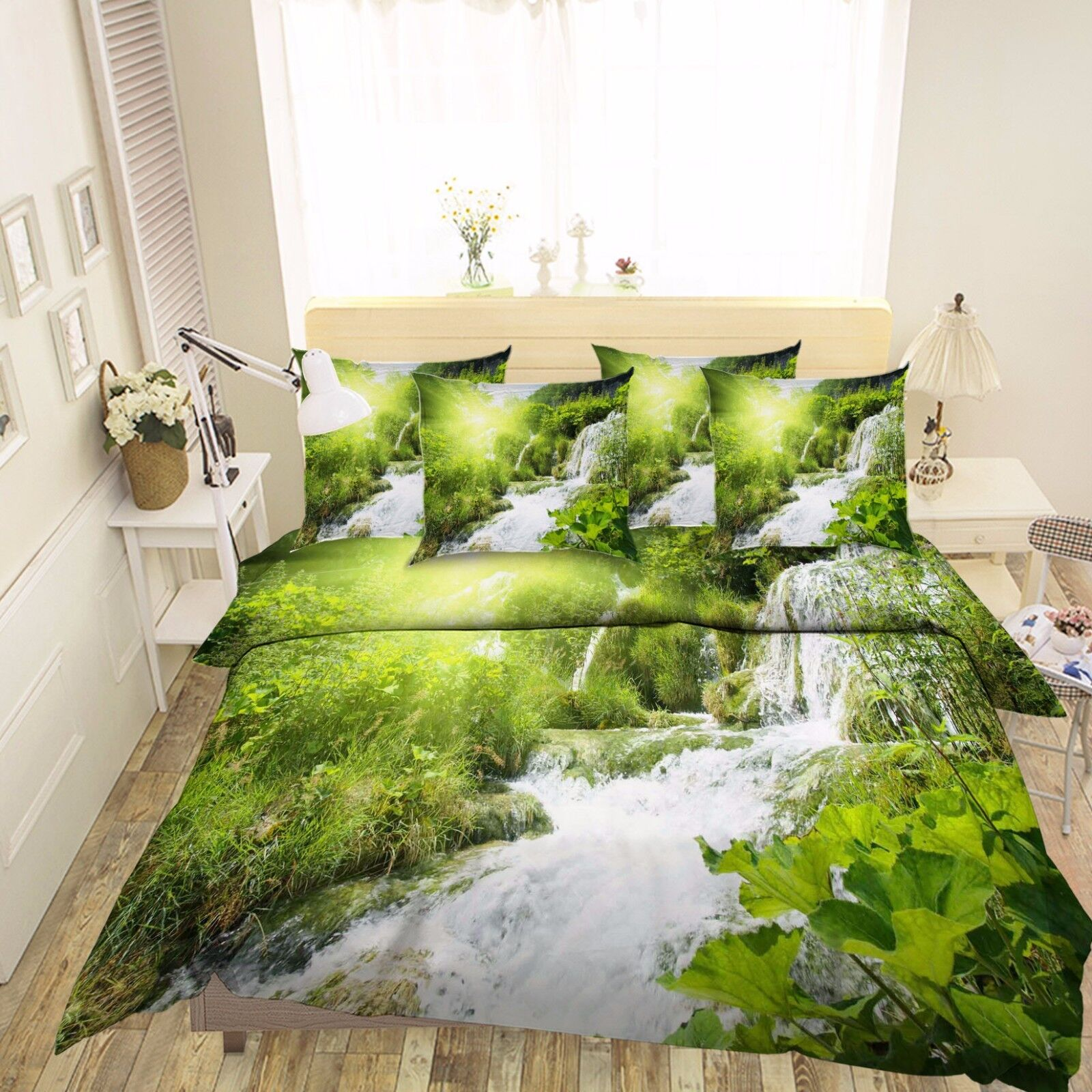 3D Sunshine Jungle 63 Bed Pillowcases Quilt Duvet Cover Set Single Queen King AU