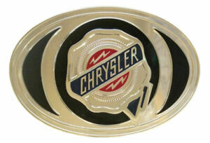 CHRYSLER Licensed Product Metal Belt Buckle by Spec Cast Collectibles