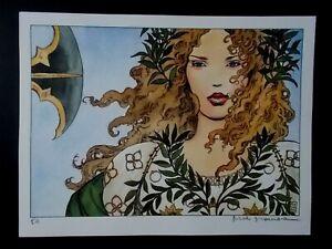 "Milo Manara  ( Art Print ) "" Miel ""  Epreuve d'Artiste + Belle Signature"
