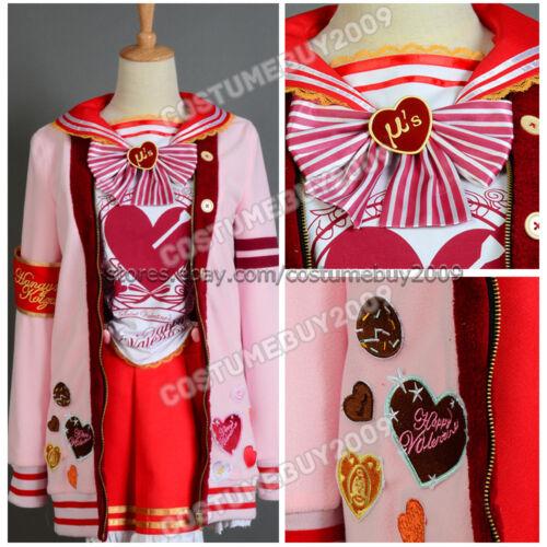 Love Live Valentine/'s Day Honoka Kousak Uniform Christmas Dress Cosplay Costume
