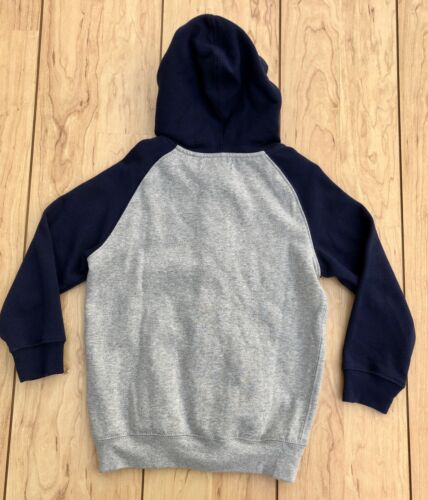 Details about  /Boys CHAPS Full Zip Hooded Sweatshirt Hoodie Gray Navy Size 5 NWT $40