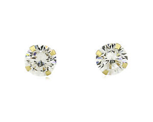 6-0mm-Round-CZ-Stud-Screwback-Prong-Set-Earrings-in-Real-10k-SOLID-Yellow-Gold