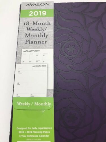 2019 AVALON 18-Month Weekly//Monthly Calendar Planner Appointment Book