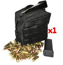 (1) .32 AMMO MODULAR MOLLE UTILITY POUCH FRONT HOOK LOOP STRAP .32ACP 32