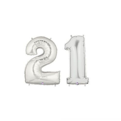 """Party Balloon Numbers /""""21/"""" Megaloon 40"""" Mylar"""