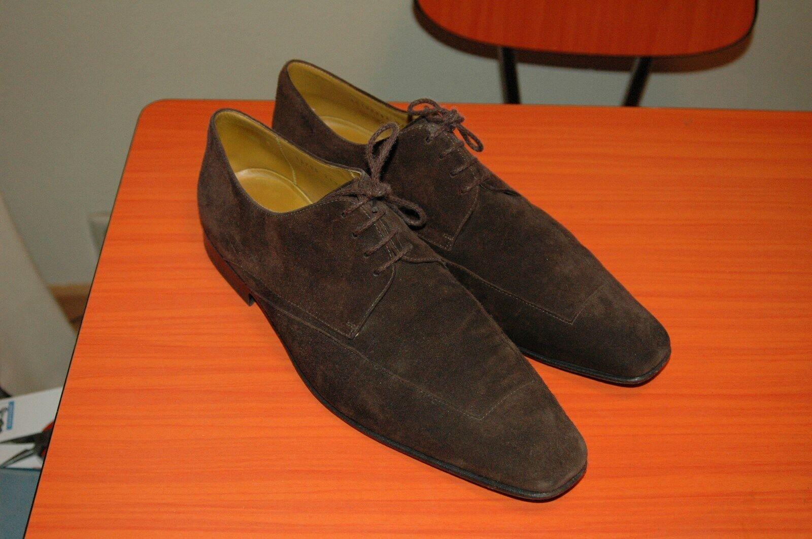 Zapatos De Vestir HUGO BOSS Selección Para Hombres Marrón con Cordones 43.5 nos 10.5 Italia