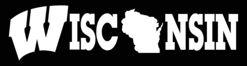 STATE of WISCONSIN LOGO CAR DECAL VINYL STICKER RED OR WHITE 3 SIZES