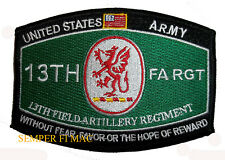 US ARMY 13TH FIELD ARTILLERY REGIMENT King of Battle