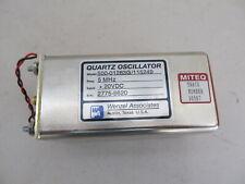 Wenzel Miteq 5 Mhz Quartz Oscillator Low Phase Noise 500 01283g115249 20vdc