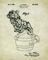 Semi Mack Truck Patent Poster Print Bulldog Radiator Cap Hood Ornament Pat298