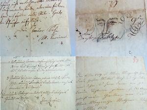 Vorfahren Von Moriz CarriÈre 1817-1895 2019 Neuestes Design 3 Dokumente 1830er ; Brief Von Ihm Schnelle WäRmeableitung